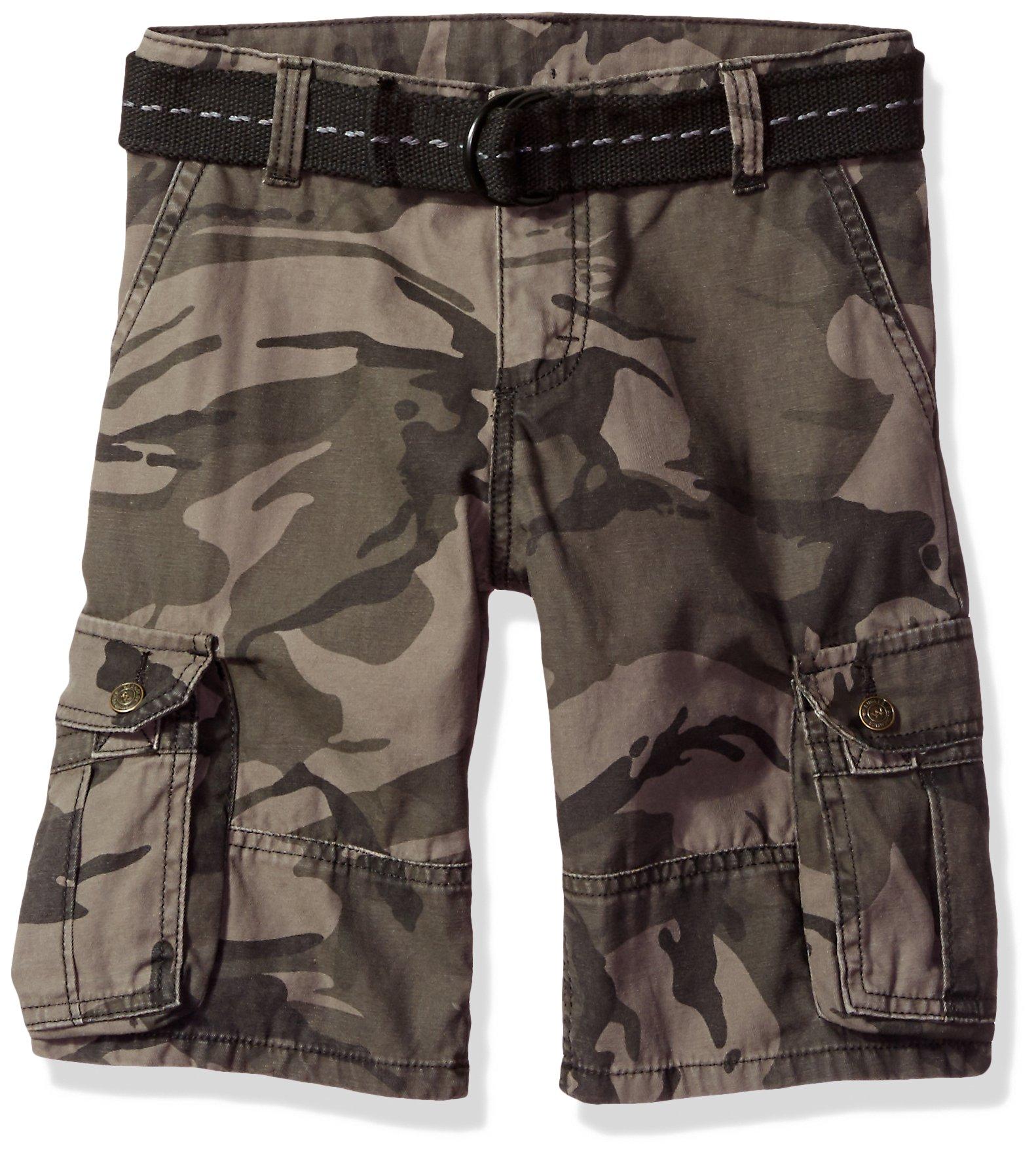 Wrangler Big Boys' Authentics Fashion Cargo Short, Anthracite Camo, 14
