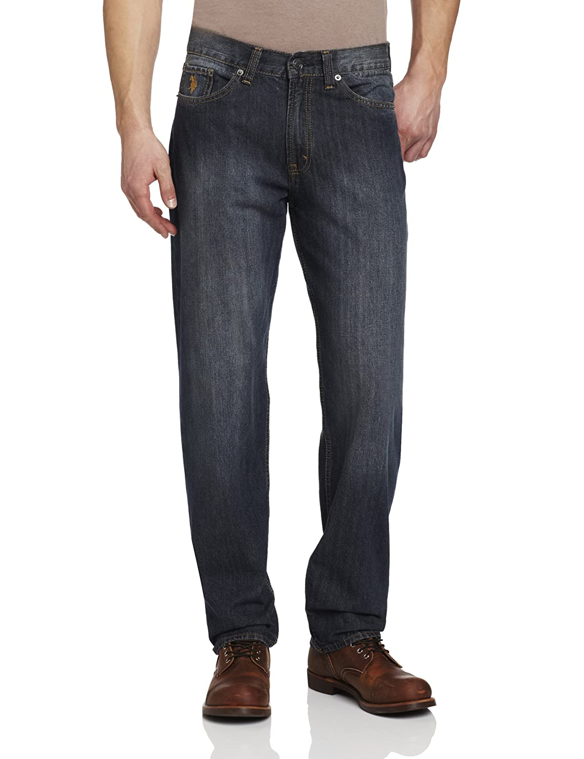 U.S. Polo Assn. Men's Relaxed Five-Pocket Jean at Amazon Men's Clothing  store: Jeans Us Polo Men