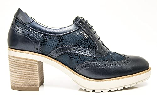 Scarpe stringate Nero Giardini P805044D 201 5044 in pelle blu oceano