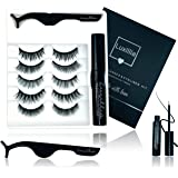Luxillia 8D Magnetic Eyelashes with Eyeliner Kit, Most Natural Look, Strongest Hold, Waterproof Liquid Eye Liner, No…