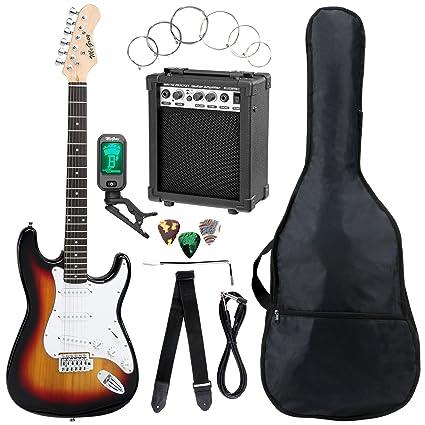 McGrey Rockit guitarra eléctrica set completo ST Sunburst