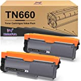 HaloFox Compatible Toner Cartridge Replacement for Brother TN660 TN630 DCP-2560DN MFC-L2707DW MFC-L2700DW HL-L2380DW DCP…