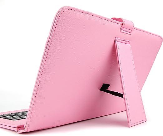 DURAGADGET Support /étui Rose Garantie 2 Ans Clavier int/égr/é AZERTY pour Tablette Enfant QILIVE Tactile 10.1 Pouces Kids fran/çais