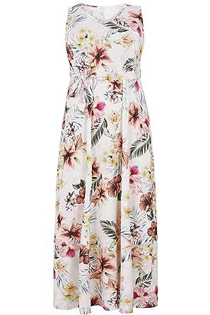 a55d30048de Yours Clothing Women s Plus Size London Ivory   Floral Maxi Dress Size 22  Multi  Amazon.co.uk  Clothing