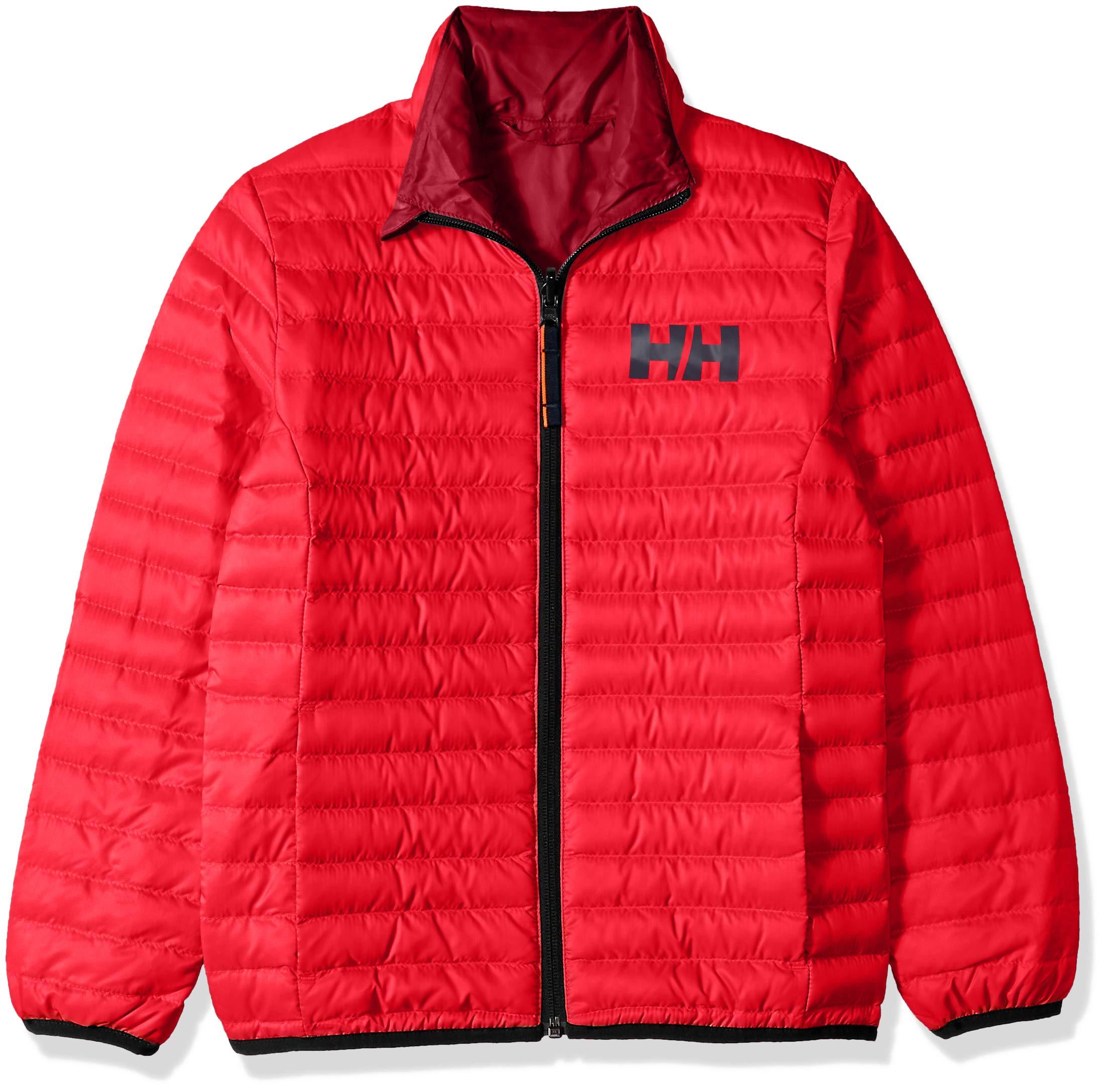 Helly Hansen Jr Barrier Down Insulator Jacket, Goji Berry, Size 12 by Helly Hansen (Image #1)