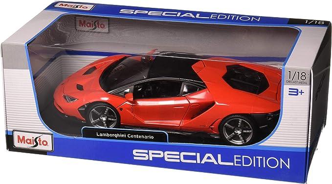 NEW 1:18 W//B MAISTO SPECIAL EDITION COLLECTION RED LAMBORGHINI CENTENARIO Diecast Model Car By Maisto