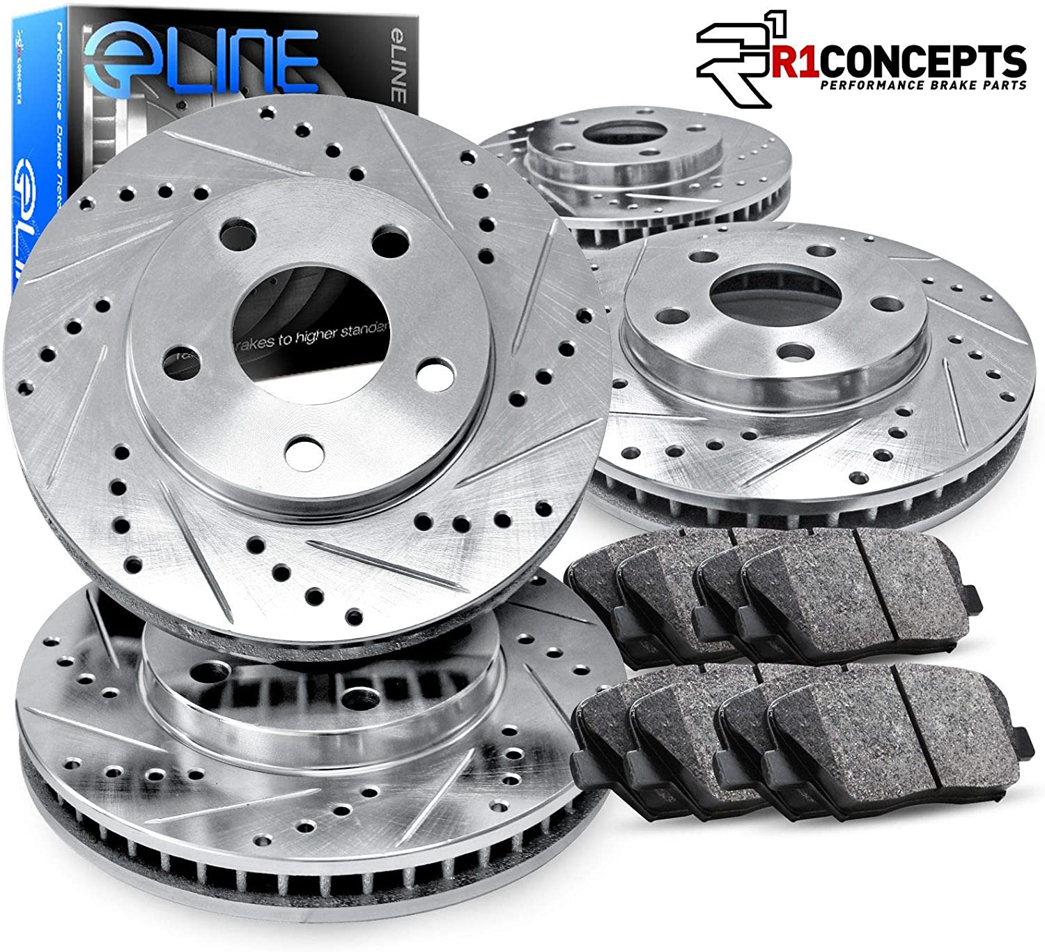 Front And Rear OE Brake Calipers /& Rotors /& Pads For Hyundai Sonata Kia Optima