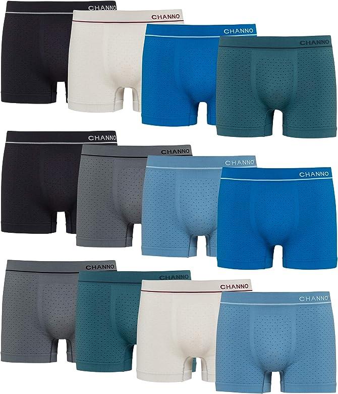 Boxers de Licra Sin Costuras de Topos Suaves y Cómodos para Hombre. Pack de 12 Calzoncillos. Talla M: Amazon.es: Ropa y accesorios