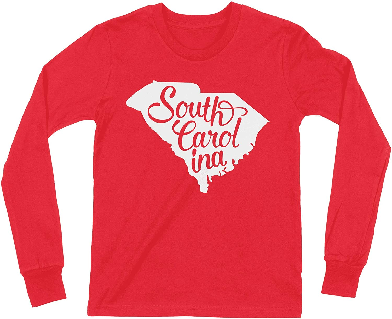 HARD EDGE DESIGN Boy's Youth South Carolina Home State Script T-Shirt