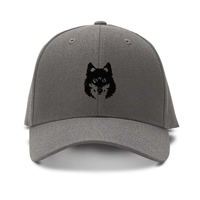 21648b847c9 Amazon.com  Mean Wolf Face Black Embroidery Embroidered Adjustable ...