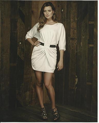 NCIS Cote de Pablo Ziva David Sexy White Dress Full,length 8x10 Photo
