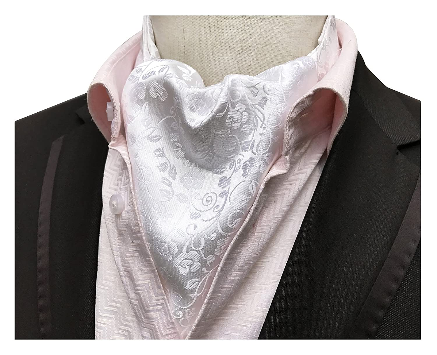 Elfeves Men's Luxury Floral Handsome Cravat Ties Perfect Design Self-tied Ascot Aug17A2017-8-12-28