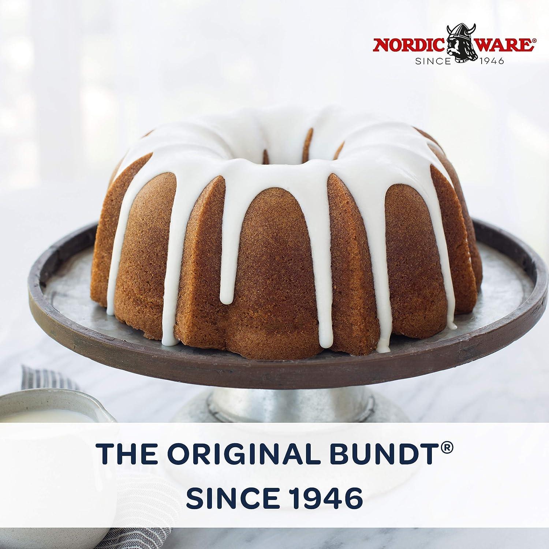 Nordic Ware 50077 Anniversary Bundt Pan, aluminio fundido