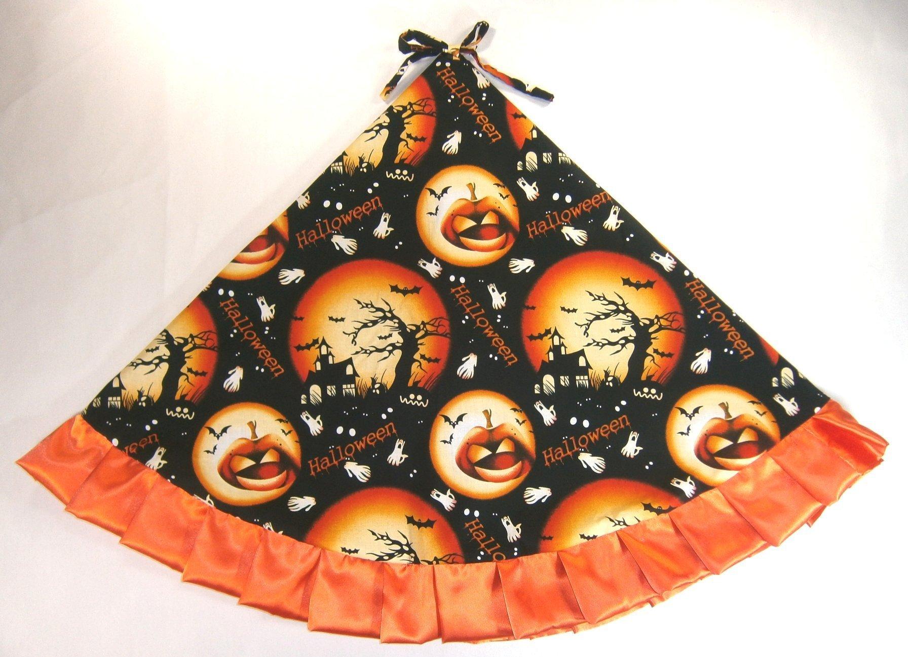 Halloween Tree Skirt, 47'' Full Moons & Jackolanterns