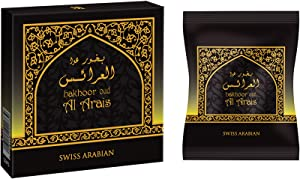 SWISSARABIAN Oud Al Arais Incense 40g | Home Use with Electric/Charcoal Burner (Mabkhara) | Traditional & Long Lasting Middle East Quality Organic Resin | by Swiss Arabian Oudh Perfume & Attar, Dubai