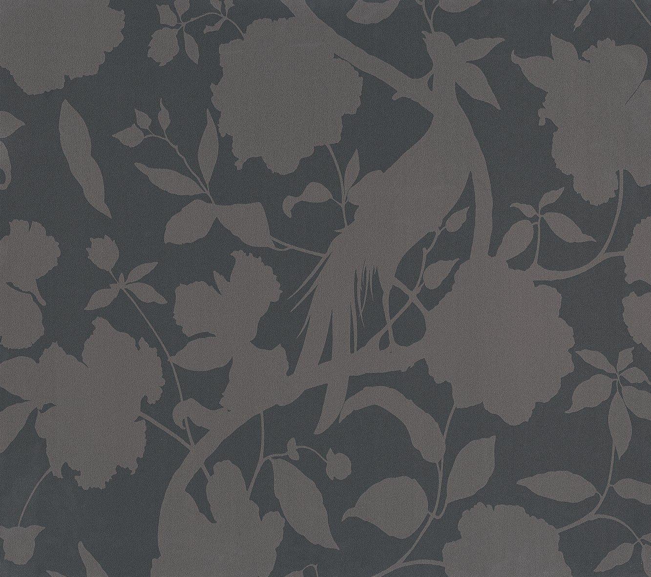 con dise/ño floral 1 rollo color gris Equipo DRT Senso Papel pintado