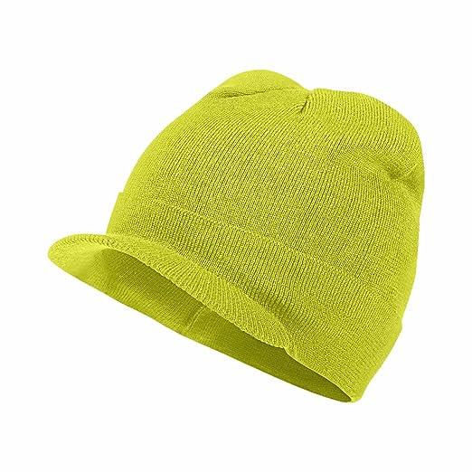 Amazon.com  Nike Unisex Run Crew Radar Knit Running Hat Cap-Yellow ... 09bfe873527