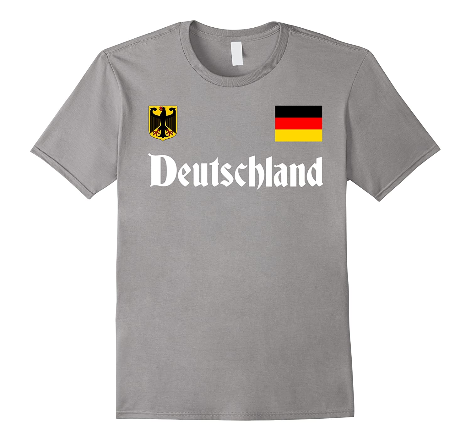 Germany National Soccer Tee - Deutschland T Shirt-T-Shirt