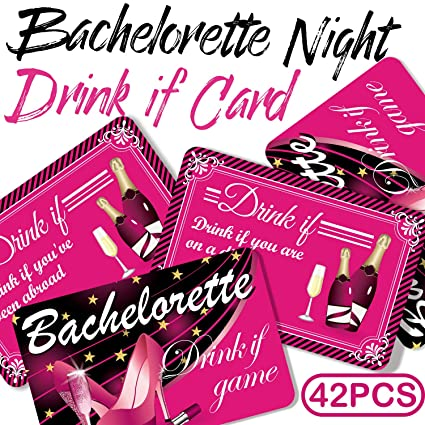 amazon com drink if card bachelorette drinking party games