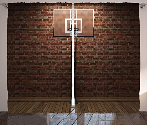 Ambesonne Basketball Curtain