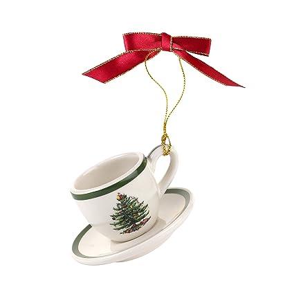 Spode Christmas Tree Ornament Teacup & Saucer - Amazon.com: Spode Christmas Tree Ornament Teacup & Saucer: Home