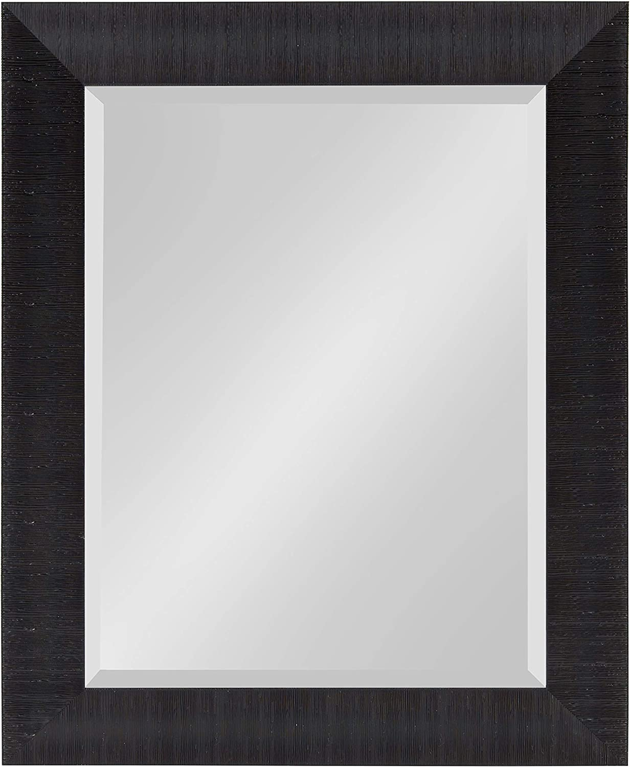 Kate and Laurel Reyna Framed Wall Mirror, 23.75x29.75 Black