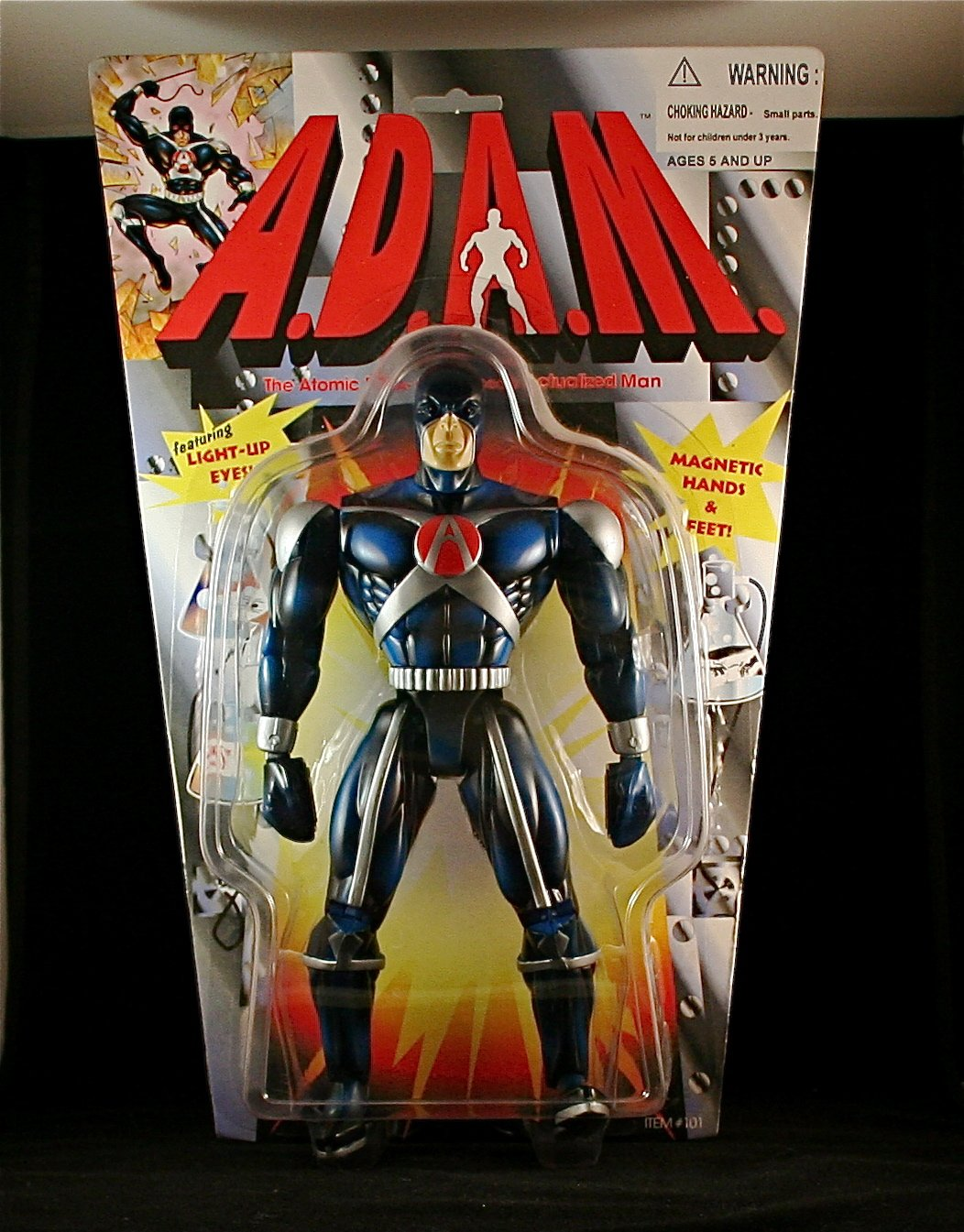 Actualized Man Super Poseable 9/½ Inch Action Figure with Magnetic Hands /& Feet Enhanced The Atomic DNA A.D.A.M