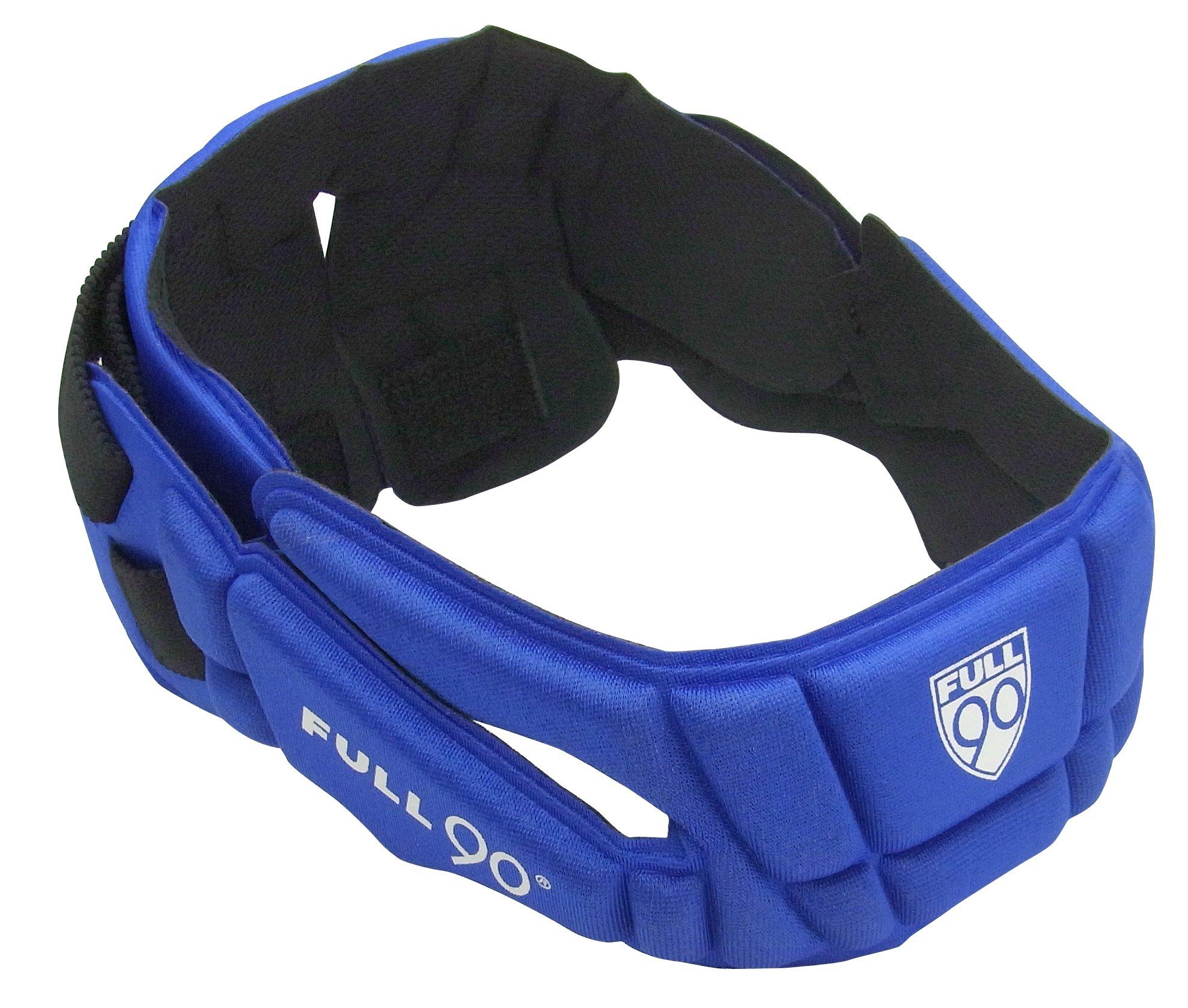 Full 90 Sports PREMIER Performance Soccer Headgear, Royal, Small/Medium