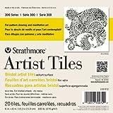 "Strathmore STR-105-972 20 Sheet Artist Tiles Bristol Vellum Pad, 6 by 6"""