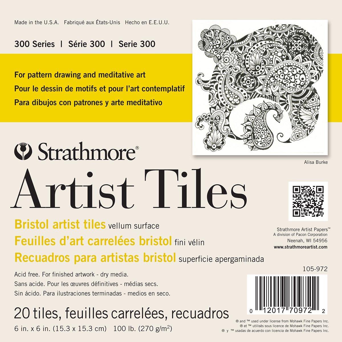 Strathmore 062105972Artist Tiles,, 6x 15,2cm, Confezione da 20 105-972