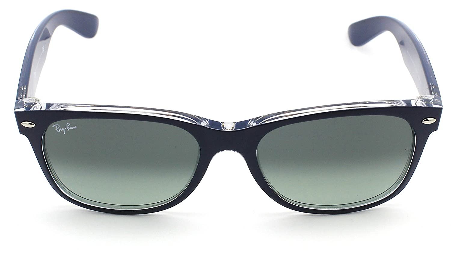 4ff923909ade Amazon.com  Ray-Ban RB2132 605371 Matte Blue on Transparent Frame   Grey  Gradient Lens 55mm  Clothing