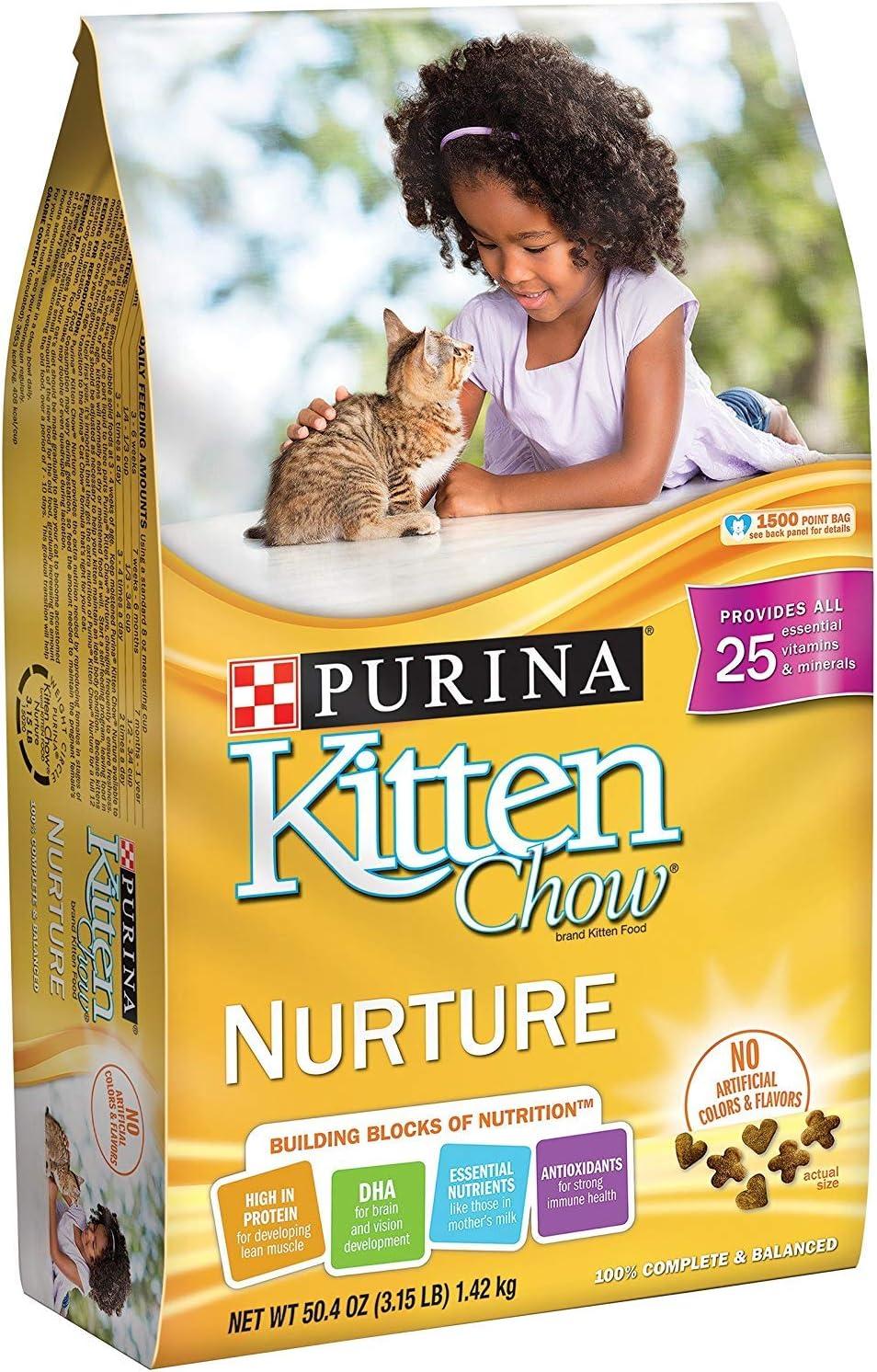 Purina Kitten Chow Nurture Kitten Dry Cat Food, 3.15 LB