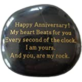"""Anniversary Gift""""Happy Anniversary! My heart Beats for you Every second of the clock. I am yours. And you, are my rock."""" Engr"""