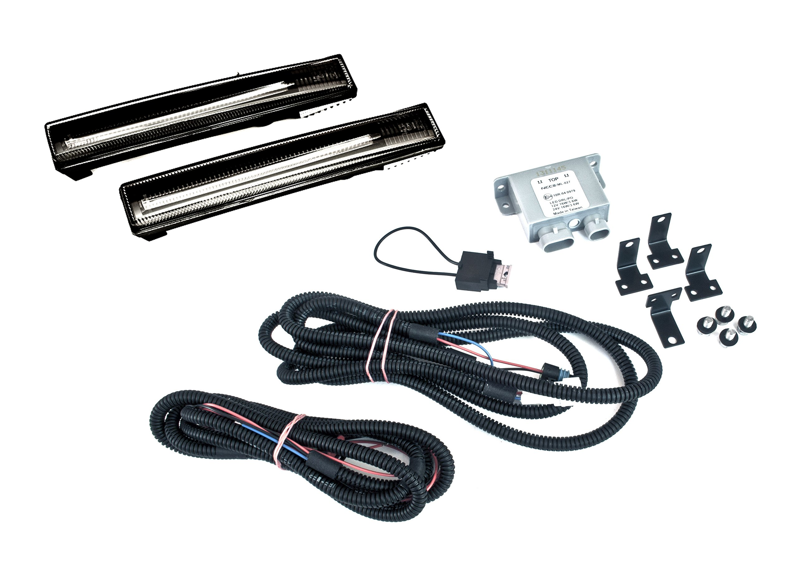 "Set of Nolden NCC ""Universal"" Light Guide Premium Universal Daytime Running Lights Black 2700-S.0"