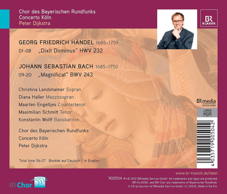 Händel Dixit Dominus / Bach: Chor Des Bayerischen Rundfunks, Johann Sebastian Bach: Amazon.es: Música