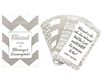JennyM | Blessed Prayer Cards, Verses of Blessings & Encouragement, Bible  Verses, Inspirational Scripture Cards with Keepsake Box, Boxed  Inspirational