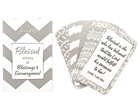 amazon com jennym blessed prayer cards verses of blessings