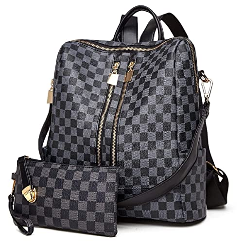 Backpack For Women Fashion Leather Ladies Rucksack Crossbody Shoulder Bag 2pcs Purses Backpack Set by Ytl