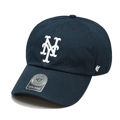 4da454003e0289 ... purchase 47 brand new york mets clean up dad hat cap navy white fd208  9363f