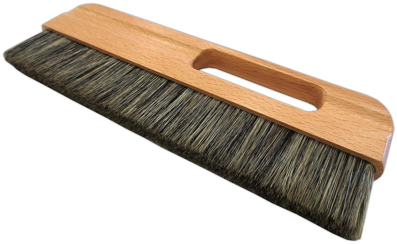 Tapezierwischer 32 x 2 cm graue Chinaborsten lackiertes Holz Malerqualit/ät Tapetenb/ürste Tapezierb/ürste Abstauber