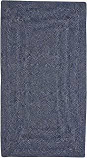 """product image for Candor Blue 11' 4"""" x 14' 4"""" Concentric Rectangle Braided Rug"""