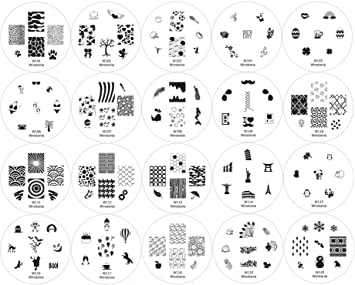 Amazon winstonia 20 pc nail art stamp stamping image plate winstonia 20 pc nail art stamp stamping image plate set manicure pedicure first generation prinsesfo Gallery
