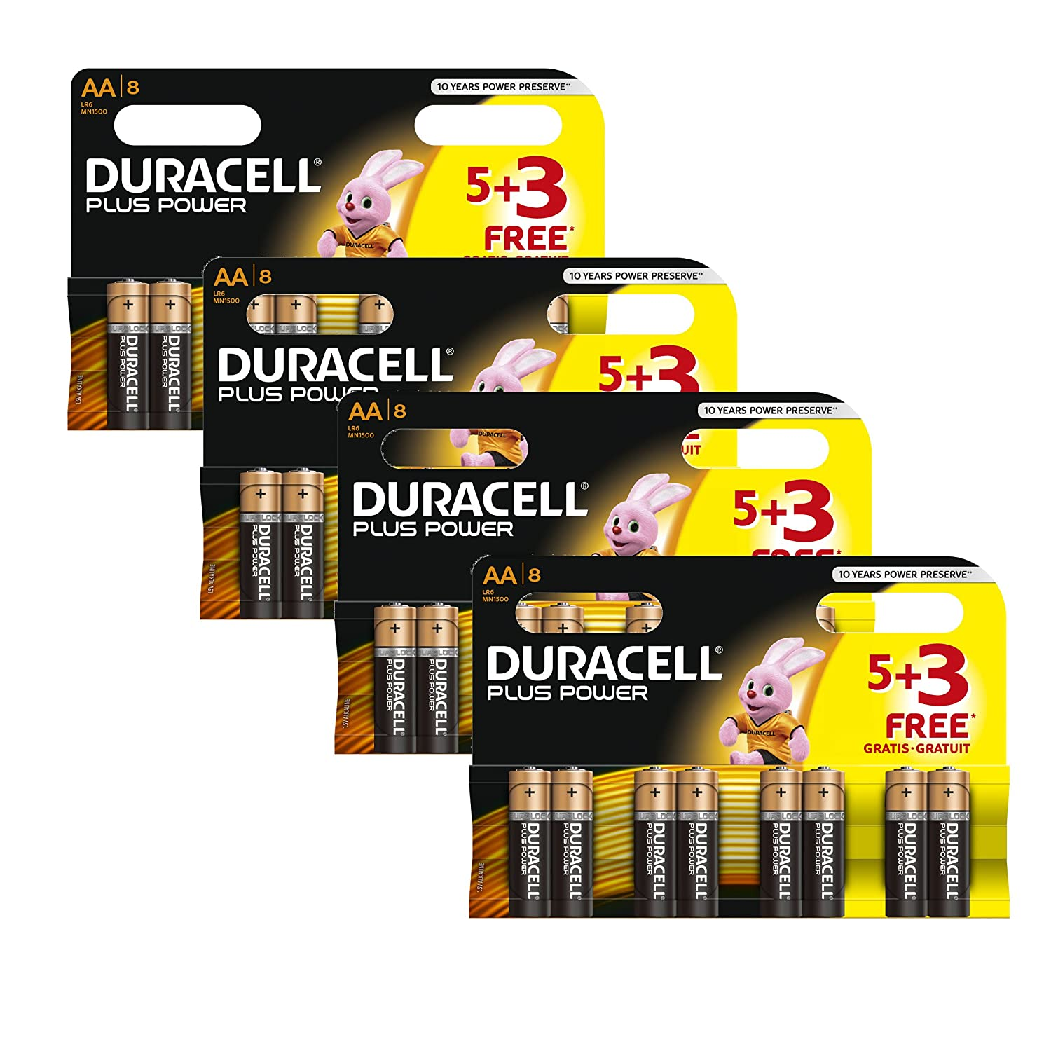 Duracell Mn1500 Plus Power Batteries Size Aa Black Powering Led From Single Cell Electronics