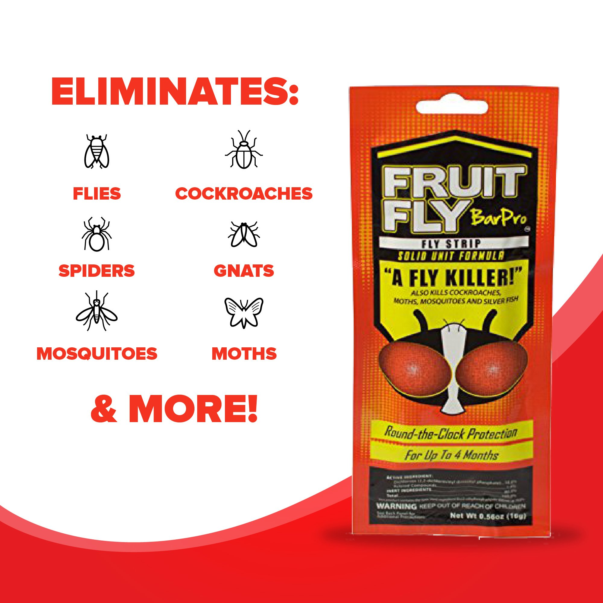 Fruit Fly BarPro – 4 Month Protection Against Flies, Cockroaches, Mosquitos & Other Pests – Portable for Indoor & Outdoor Use by Fruit Fly BarPro (Image #5)