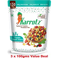 Karrotz Healthy Nutrition Mix Berries - Dry Fruits, Mixed Nuts, Seeds and Grams (100g) - Set of 3