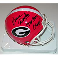 $114 » Vince Dooley Signed Autographed Auto UGA Georgia Bulldogs Mini Helmet w/1980 Natl Champs - Proof