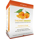 SlimGenics Thermo-Boost ®   Thermogenic Powder Energy Drink Mix – Antioxidant, Anti-Aging Properties - Metabolism Booster, Weight Loss for Women - Fights Fatigue and Inflammation (Mandarin Orange)