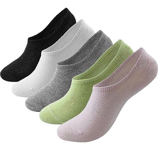 8af9938b89ed9 Womens No show Socks 5 Pairs, US Women 5-7.5 at Amazon Women's ...