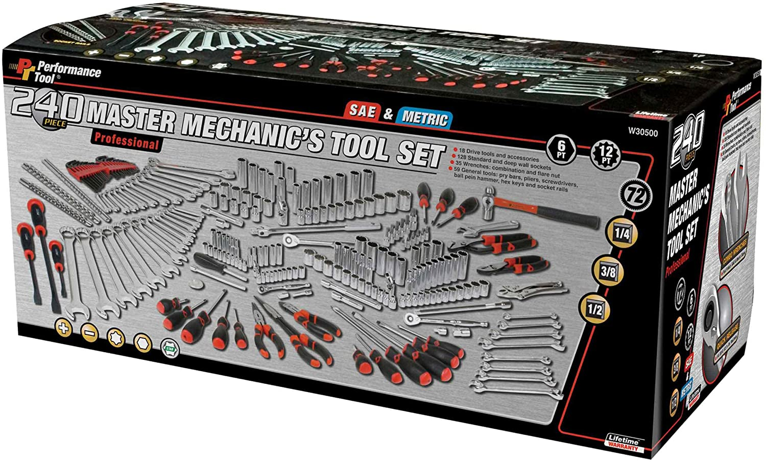 Performance Tool W30500 Master Mechanic's Tool Set (240 Pieces) - Hand Tool  Sets - Amazon.com