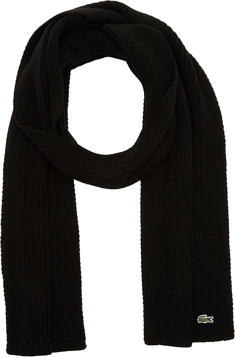 Lacoste Mens Ribbed Scarf